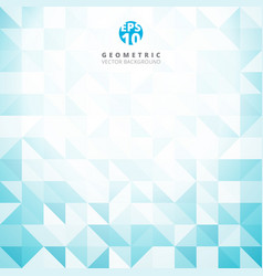 abstract gray triangle and square in blue and vector image vector image