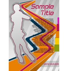 figure skating poster vector image
