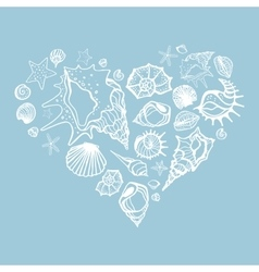 Heart of Sea shells vector image vector image