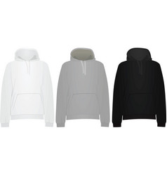 hooded sweaters vector image vector image