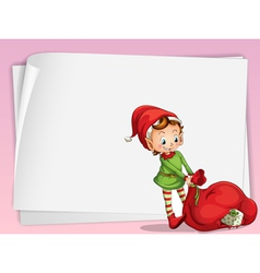 paper sheets and elve vector image