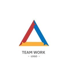 Team Work logo vector image vector image