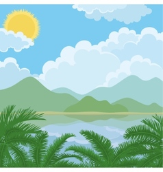 Tropical sea summer landscape vector image vector image