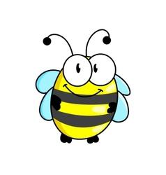 Cartoon striped little bee vector image