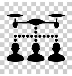 drone clients connection icon vector image