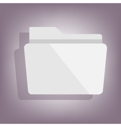 Folder icon with shadow vector image vector image