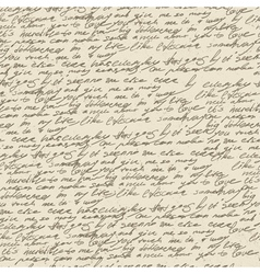handwriting background vector image vector image
