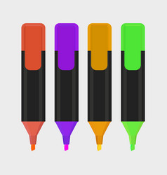 highlighter pen isolated icon vector image vector image