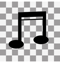 Note Icon on a transparent vector image vector image