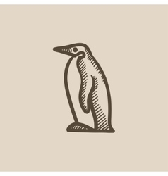 Penguin sketch icon vector image vector image