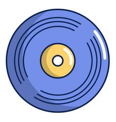 vinyl record icon cartoon style vector image