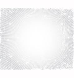 Christmas grunge silver frame vector image vector image