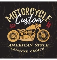 Custom motorcycle print vector