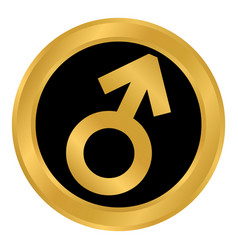 Gender male symbol button vector