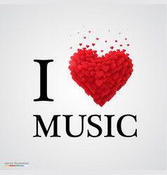 i love music heart sign vector image vector image
