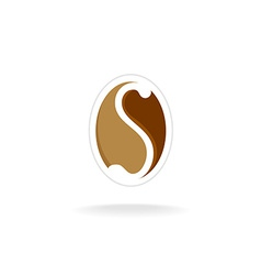 Letter S coffee logo template vector image vector image