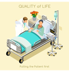 Patient Visit 01 People Isometric vector image vector image
