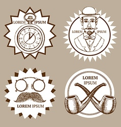 Sketch set of gentlemans vector image vector image
