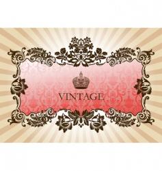 vintage glamour frame red vector image