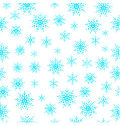 winter snowflakes seamless background vector image vector image