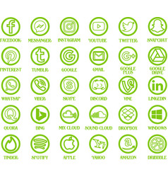 30 social media icons vector