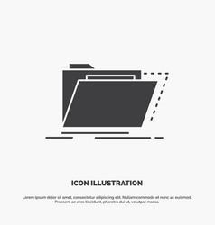 Archive catalog directory files folder icon glyph vector