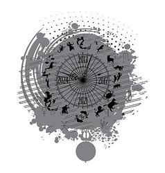 Astrology calendar clock background vector