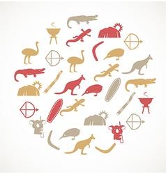 Australian icons vector