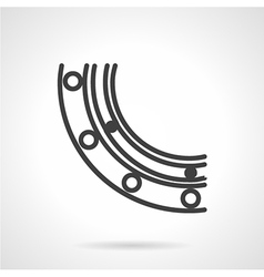 Bearing section black line icon vector