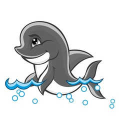 Beautiful cute dolphin vector