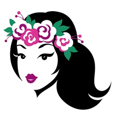 beauty girl wreath vector image