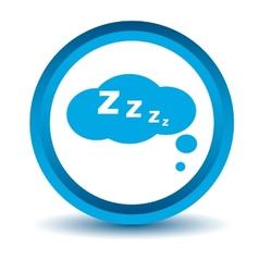 Blue sleep icon vector