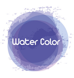 Blue watercolor art paint vector