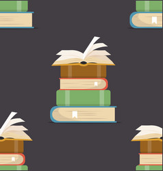book stacks seamless pattern vector image