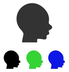 Boy head flat icon vector
