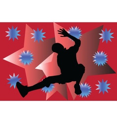 Breakdance with background vector