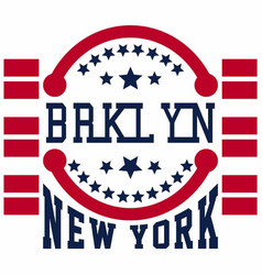 brooklyn new york vector image