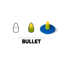 Bullet icon in different style vector image