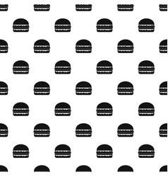 burger pattern seamless vector image