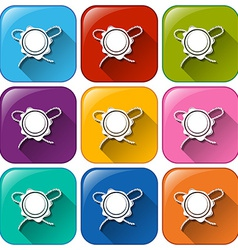 Buttons with a medal vector