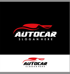 car logo design template car silhouette logo icon vector image