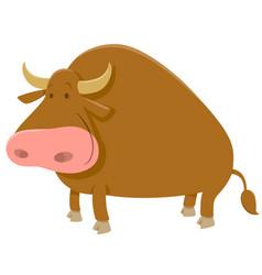 Cartoon bull farm animal vector
