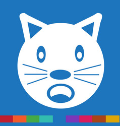 Cat face emotion icon sign design vector