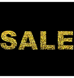 Christmas shopping and Sale Design with Gold vector image