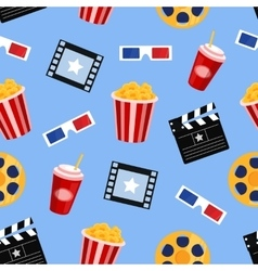 cinema elements seamless pattern vector image