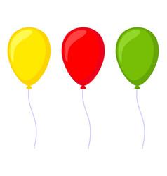 Colorful cartoon baloon set vector
