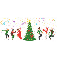 dancing people silhouette vector image