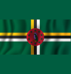dominica realistic waving flag national country vector image