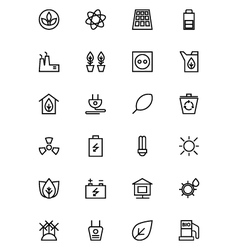 Ecology Line Icons 1 vector image