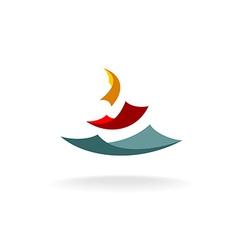 Falling paper sheets logo vector image